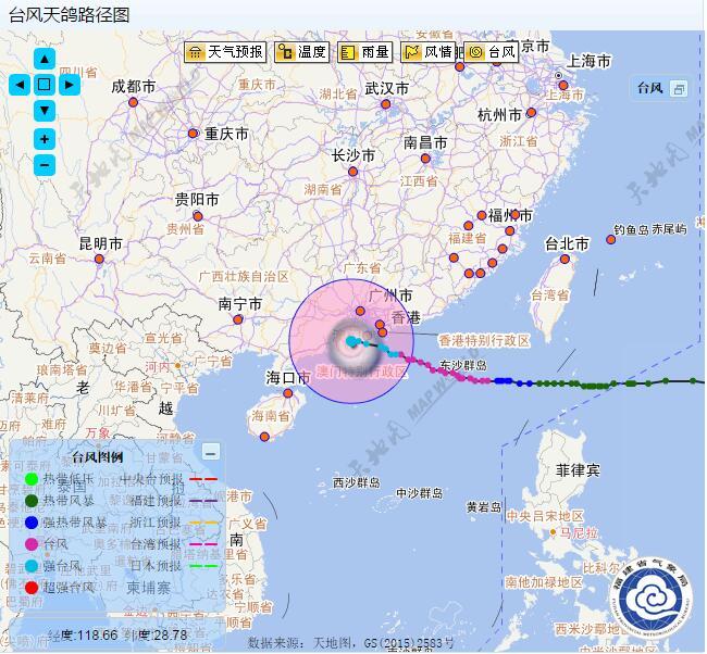 停业停市停课 台风天鸽实时路径图图片